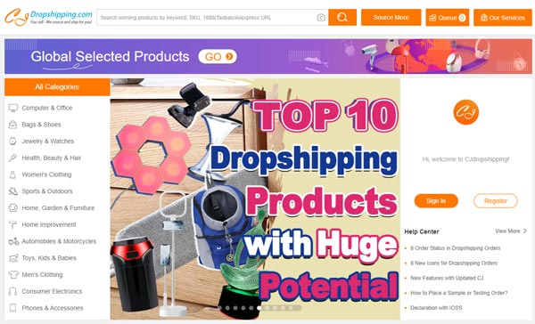 cj dropshipping review online store